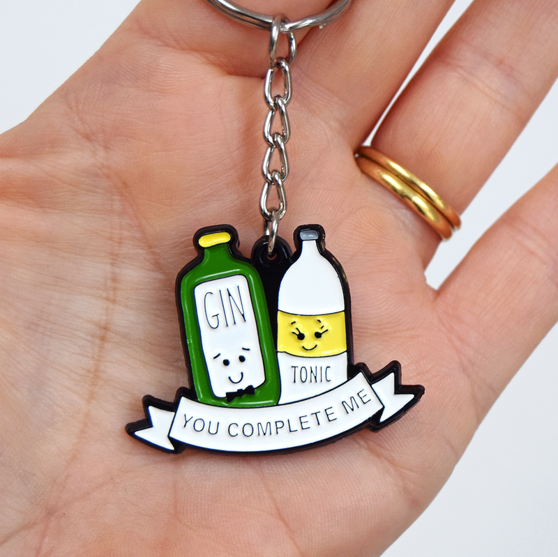 'You Complete Me' Gin and Tonic Keyring-Of Life & Lemons®