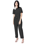 Crepe Pleat Front Jumpsuit