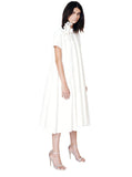 Resin Linen Short Sleeve Tent Dress