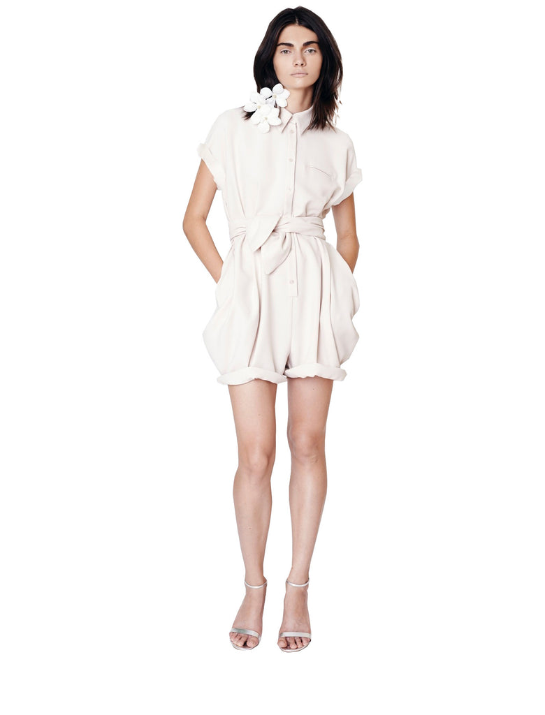 Crepe Button Down Romper