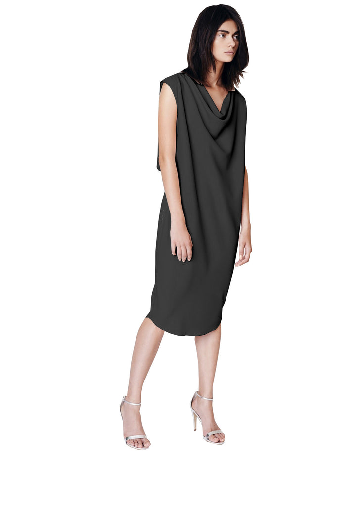 Crepe Cowl Dress