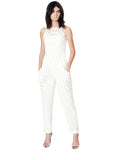 Bonded Neoprene Seamed Jumpsuit