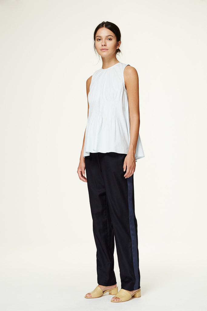 Tropical Wool Slouch Pant