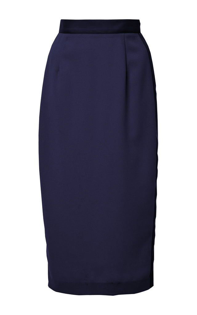 Crepe High Waisted Pencil Skirt