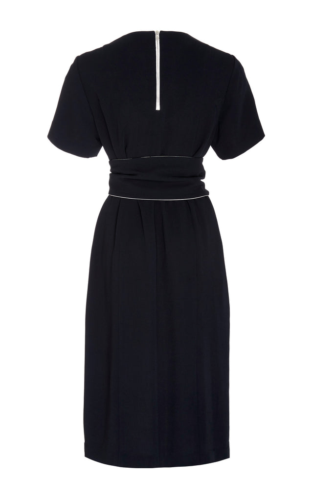 Viscose Colorblock Dress + Belt