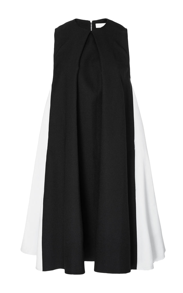 Bonded Crepe Sleeveless Tent Dress
