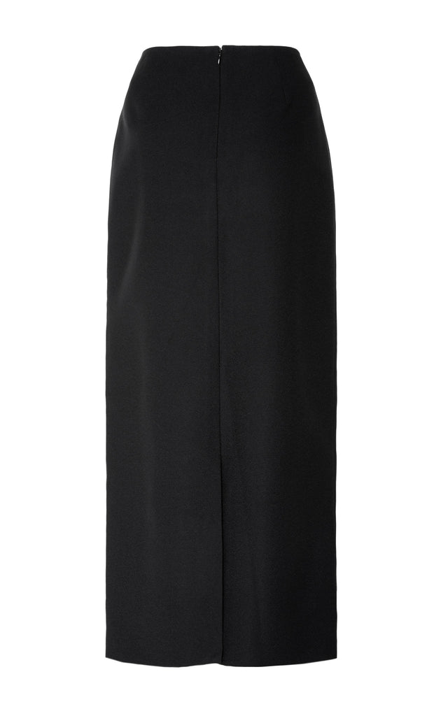 Bonded Crepe Ruffle Pencil Skirt