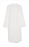 Cotton Shirting Ruffle Sleeve Shirt Dress