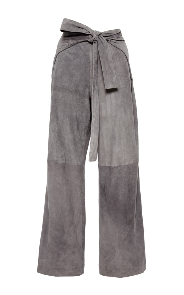 Suede Tie Front Pant