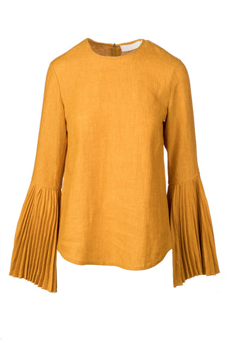 Linen Pleat Sleeve Top