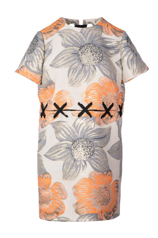 Metallic Floral Detachable Tee Dress
