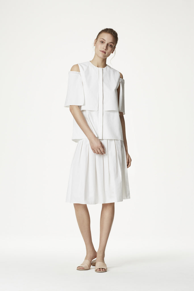 Cotton Shirting Tuck Skirt