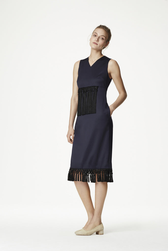 Merino Wool + Fringe Dress