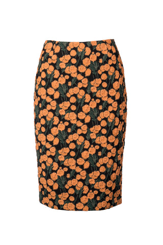 Stretch Floral Pencil Skirt