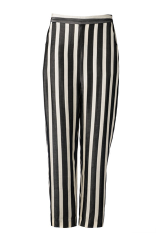 Stripe Viscose Slouch Pant