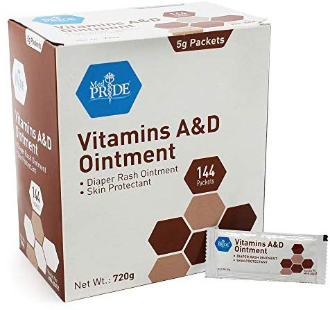 Vitamin A & D Skin Protectant Ointment| 144-Packets