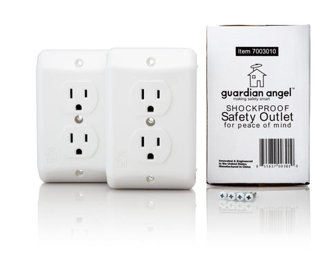 2-Pack Guardian Angel Shockproof Outlet