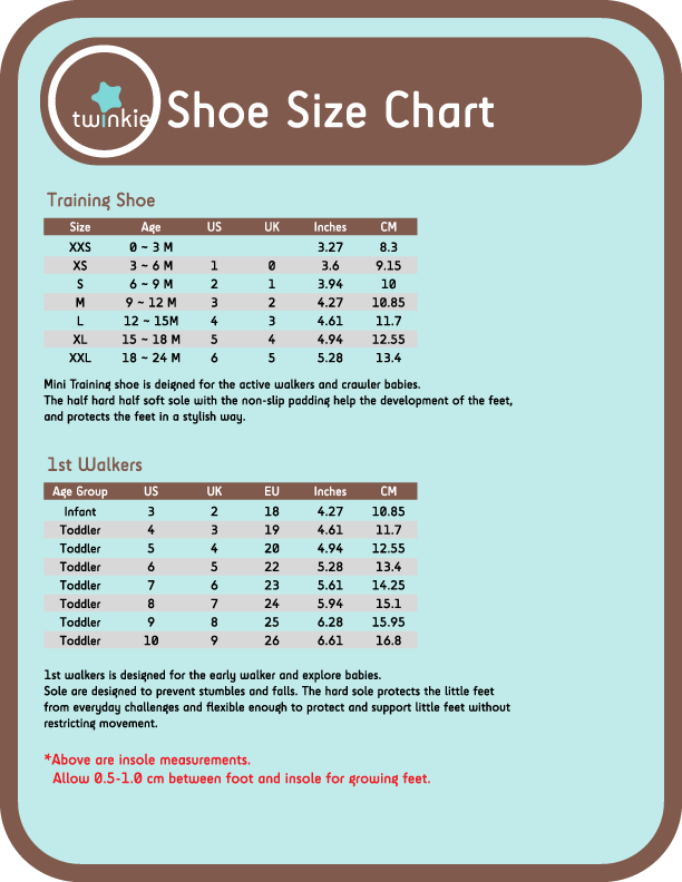 Shoe Size For Baby Boy  Months