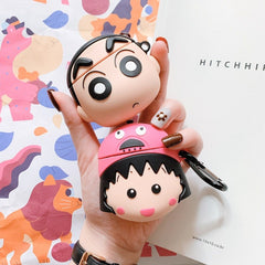 crayon shin chan anime airpods case tech animepods
