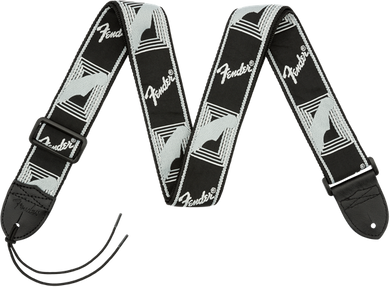 Fender 2 Monogrammed Strap Black/Light Grey/Dark Grey