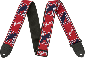 Fender 2 Monogrammed Strap Red/White/Blue