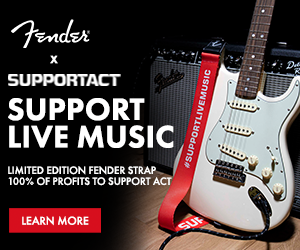 FENDER SUPPORTACT CHARITY STRAP - PICK A COLOUR - SUPPORT AUSSIE MUSIC!