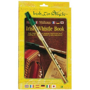 Waltons IEWM1504 rish Tin Whistle in D & Book Pack
