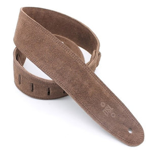 DSL SLS 3-Ply Suede Guitar Strap Brown 2.5""