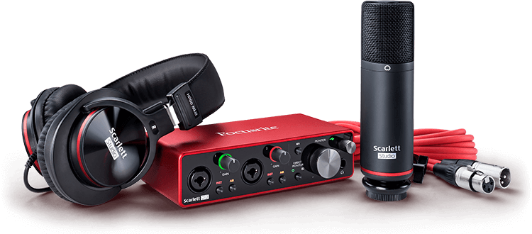 Focusrite Scarlett 2i2 STUDIO Package W/Pro Tools First & Ableton Live Lite (Gen 3)