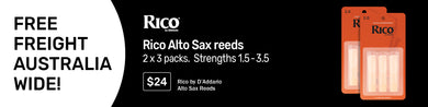 RICO ALTO SAX REEDS (2 X PACK OF 3)choose your strength!