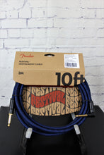 Load image into Gallery viewer, FENDER ANGLED FESTIVAL INSTRUMENT CABLE, BLUE 10 foot (3mtr)