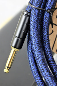 FENDER ANGLED FESTIVAL INSTRUMENT CABLE, BLUE 10 foot (3mtr)