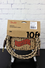 Load image into Gallery viewer, FENDER 10' Angled Festival Instrument Cable, Pure Hemp, Brown Stripe