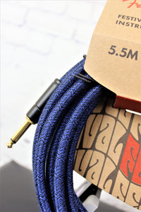 FENDER 18.6' Angled Festival Instrument Cable, Pure Hemp, Blue Dream