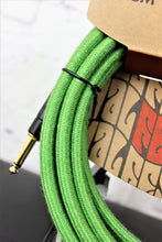 Load image into Gallery viewer, FENDER 18.6' Angled Festival Instrument Cable, Pure Hemp, Green