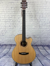 Load image into Gallery viewer, Tanglewood TDBTSFCEPW Discovery Exotic Black Walnut Super Folk C/E