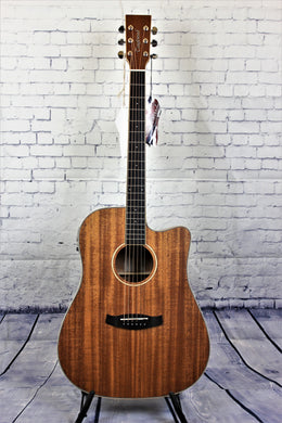 Tanglewood TWUDCE Union Acoustic/Electric Guitar Solid Mahogany Top Dreadnought Cutaway