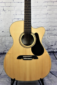 Alvarez RF26CE OM/Folk Acoustic-Electric Guitar Natural