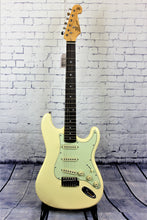 Load image into Gallery viewer, SX Vintage style SC electric guitar - Vintage White