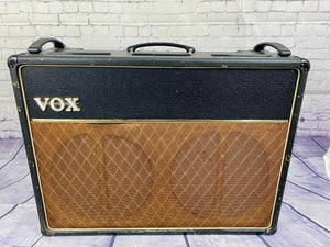 1965/6 VOX AC30 JMI-GREY PANEL WITH SILVER BELL SPEAKERS