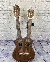 Load image into Gallery viewer, ORT-HYDRA, ORTEGA 'HYDRA' DOUBLE-NECK UKULELE, 4/8-STRING TENOR, WITH PICKUP + GIGBAG