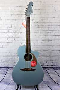 FENDER NEWPORTER PLAYER ICE BLUE SATIN ACOUSTIC GUITAR