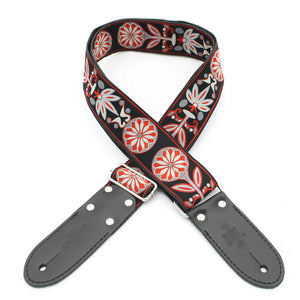 DSL Jacquard Weaving FAIR-RED Guitar Strap