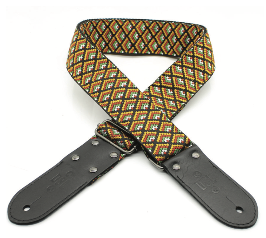 DSL Jacquard Weaving GEO-ORANGE Guitar Strap
