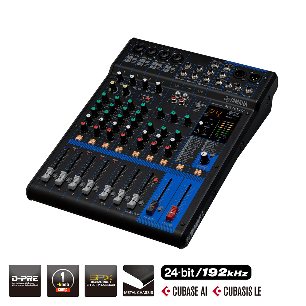 Yamaha MG10XUF D-PRE Mixer with Effects USB and Faders