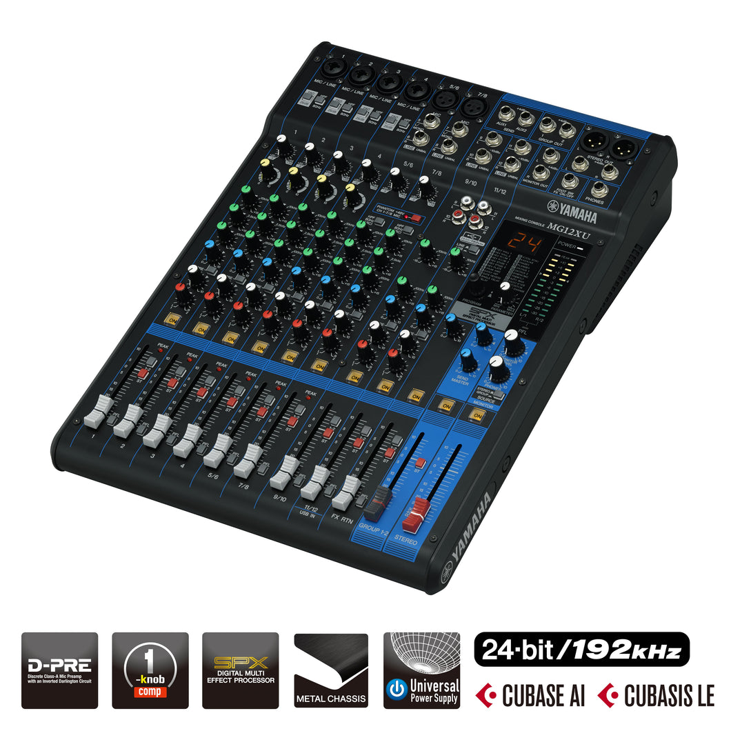 Yamaha MG12XU D-PRE Mixing Console with Effects and USB