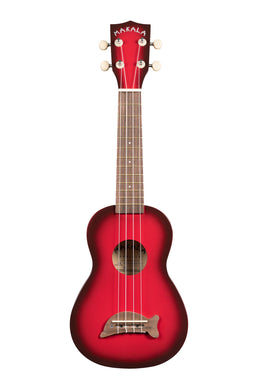 Makala MK-SD/RDBRST Dolphin Red Burst Soprano Ukulele with dots