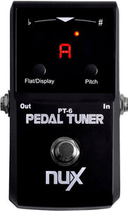 NUX PT6 Core Stompbox Series Polyphonic Strum Tuner Pedal Multi-string Guitar & Bass Pedal Tuner