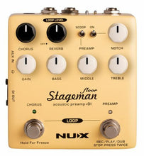 Load image into Gallery viewer, NUX Stageman Floor Acoustic Preamp, DI & Looper
