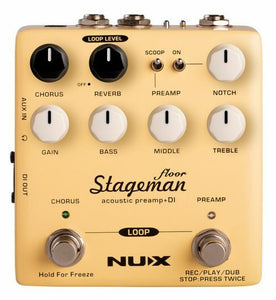 NUX Stageman Floor Acoustic Preamp, DI & Looper